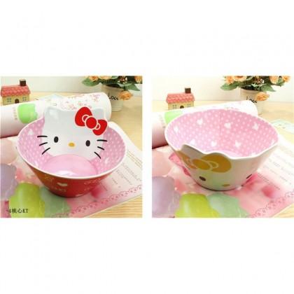 1 Set Hello Kitty Melamine Dinner Tableware[bowl+plate+cup]
