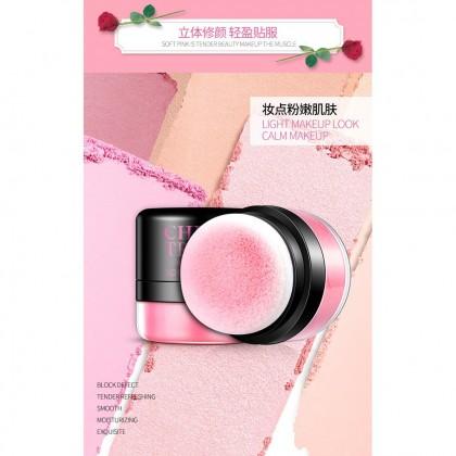 BIOAQUA Natural Soft Rose Makeup Blusher Powder Air Cushion Blush Face Makeup 4g