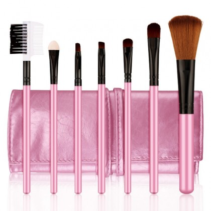 BIOAQUA 7Pcs/Set Blusher Foundation Makeup Brush Cosmetic Make Up Tools With Pouch Bag