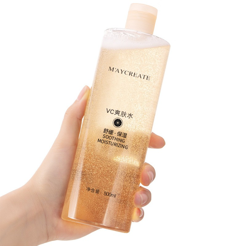 MAYCREATE VC Soothing Moisturizing Refreshing Oil Control Tightening Skin and Shrinking Pores Toner 500ml
