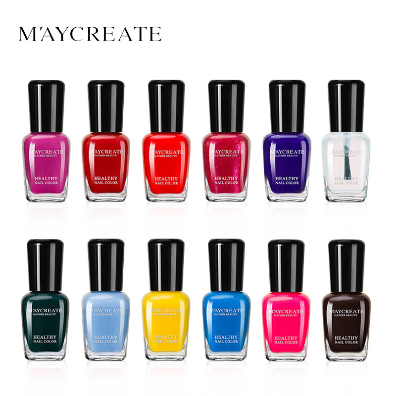 MAYCREATE Nail Polish 6 Colors Set Peel Off Water Based Easy Remove Nail Polished For Beauty Nail Shine And Look Confident