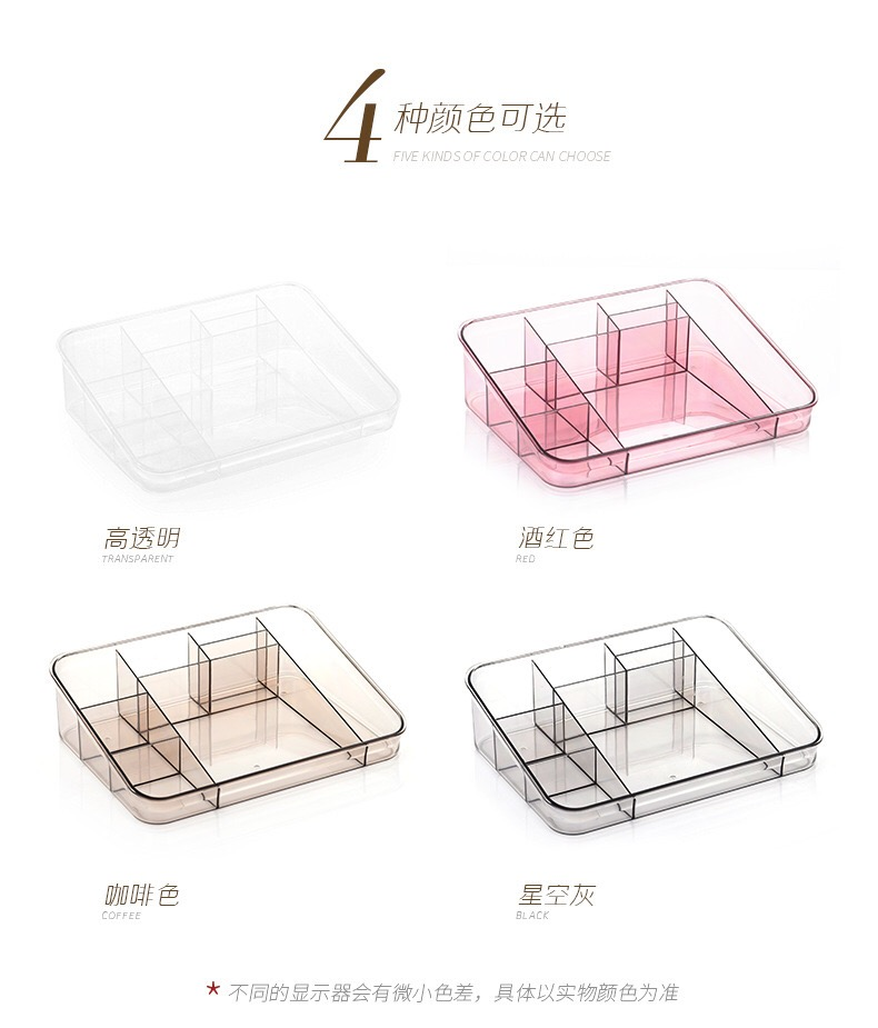 2 in 1 Clear Acrylic Cosmetic Storage Makeup Display Organizer Box Lipstick Holder Stand Make Up Rack Brush Eyeshadow Nail Polish Case Container