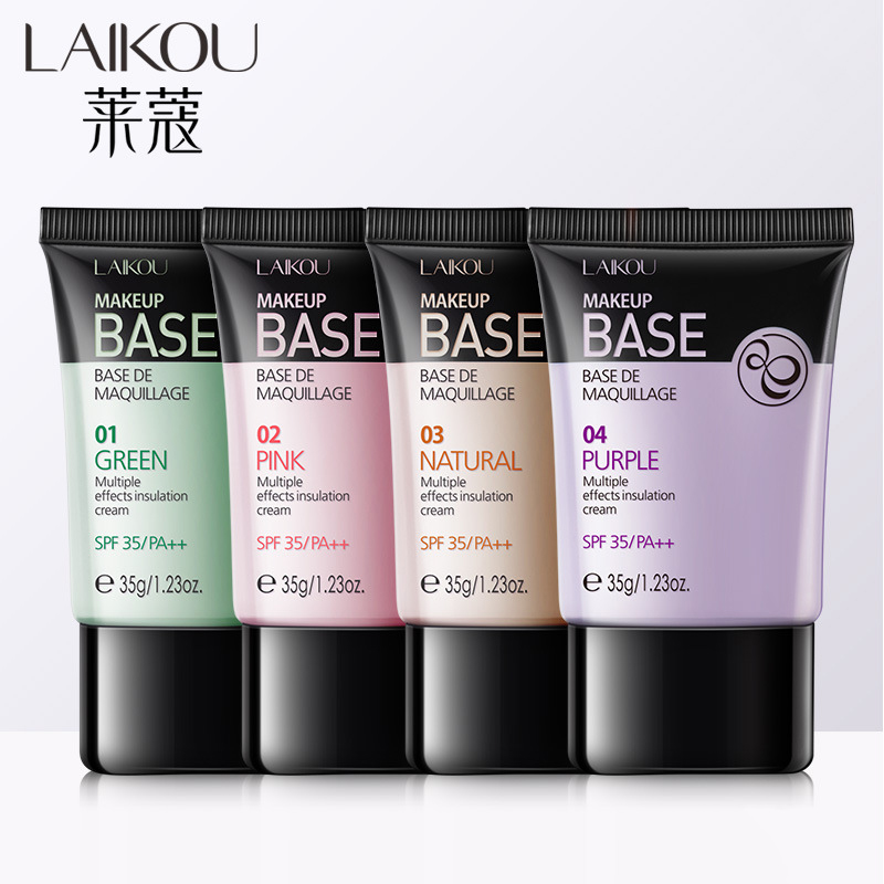 LAIKOU Makeup Base De Maquillage Multiple Effects Insulation Cream SPF35/PA++ Foundation Cover Concealer Cream 35g