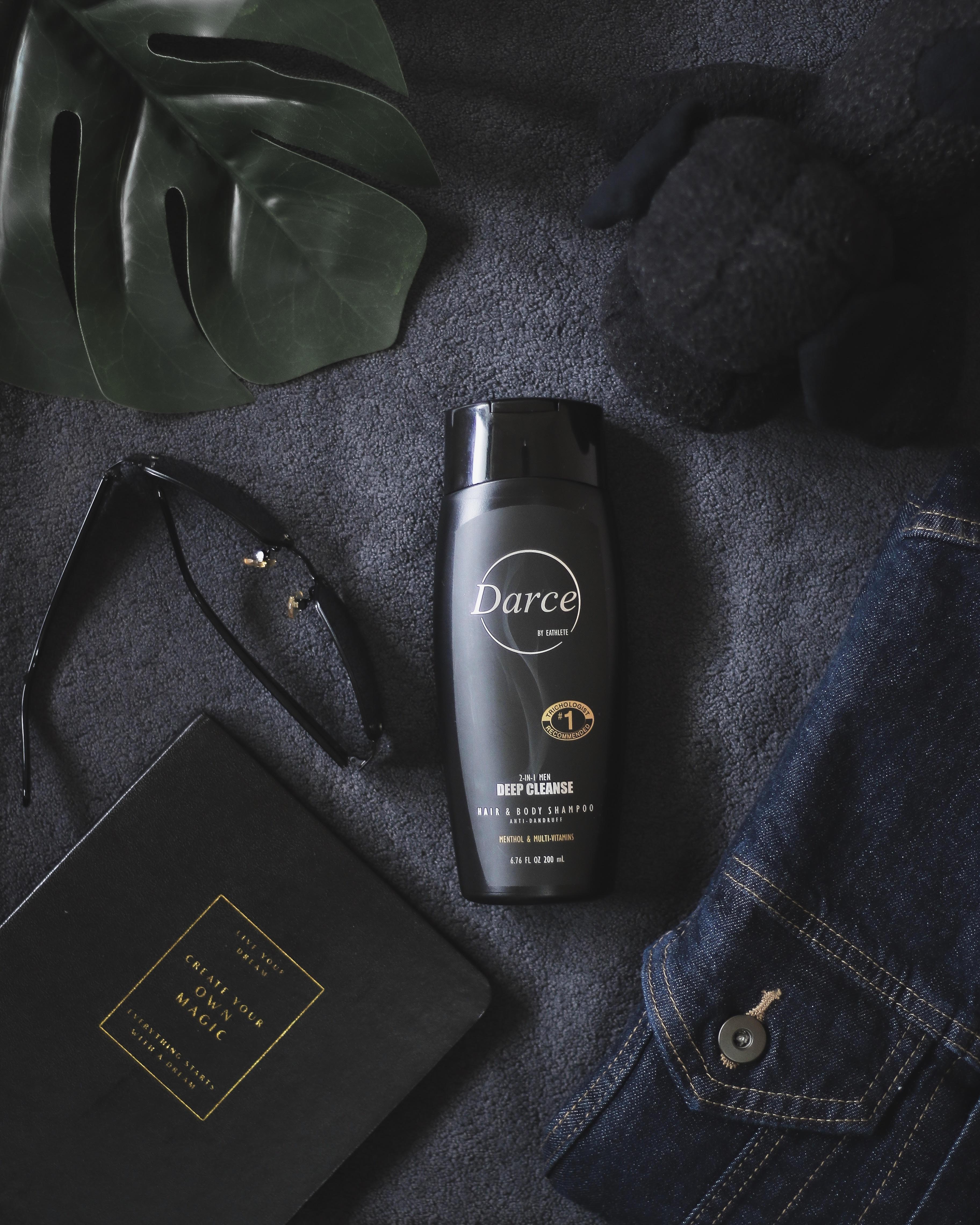 DARCE Men 2-in-1 Anti-Bacteria Shower Gel Anti-Dandruff Cooling Menthol ad Multi-Vitamin Hair and Body Wash 200ml